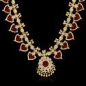 Gold Plated Kerala Traditional Green Palakka Necklace