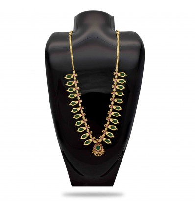 Traditional Black Nagapadam Necklace