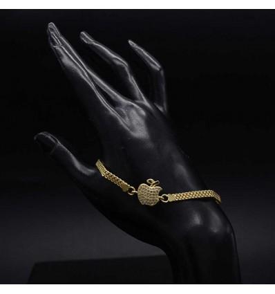 Gold Plated Ladies Apple Bracelet