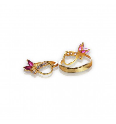 Gold Plated Ruby Finger Rings