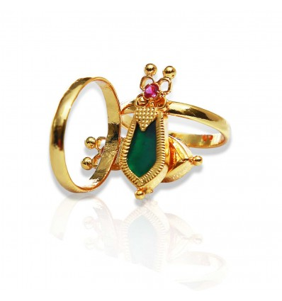 Traditional Nagapadam Finger Ring