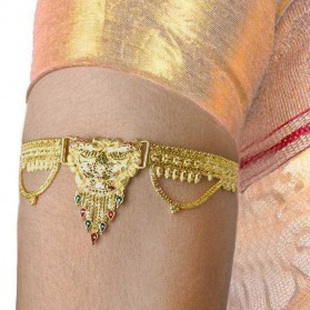 Elegant Traditional Gold Plated Enamel Armlet Bajubandh Upper Arm Band