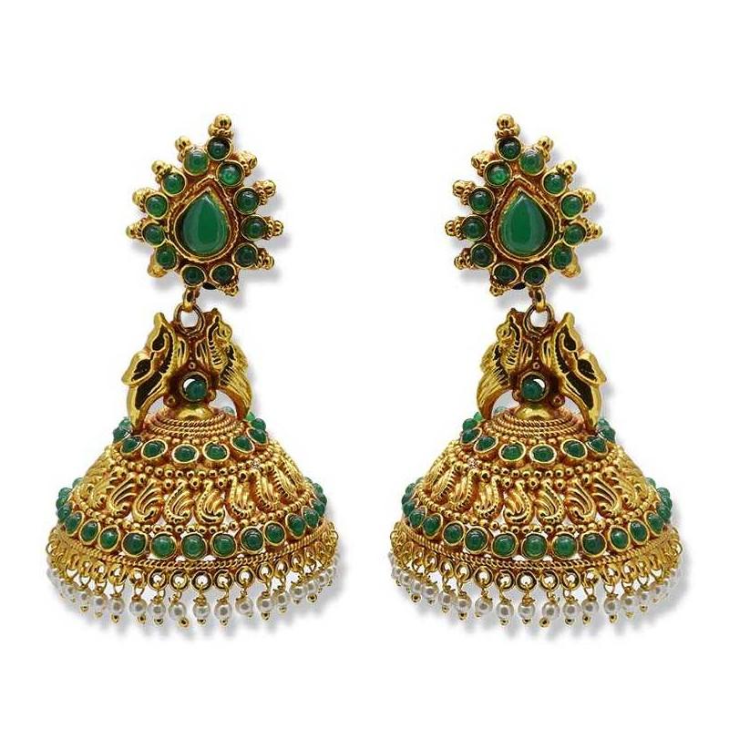 Beautiful Antique Traditional Designer Jimikki Jhumkas Earrings