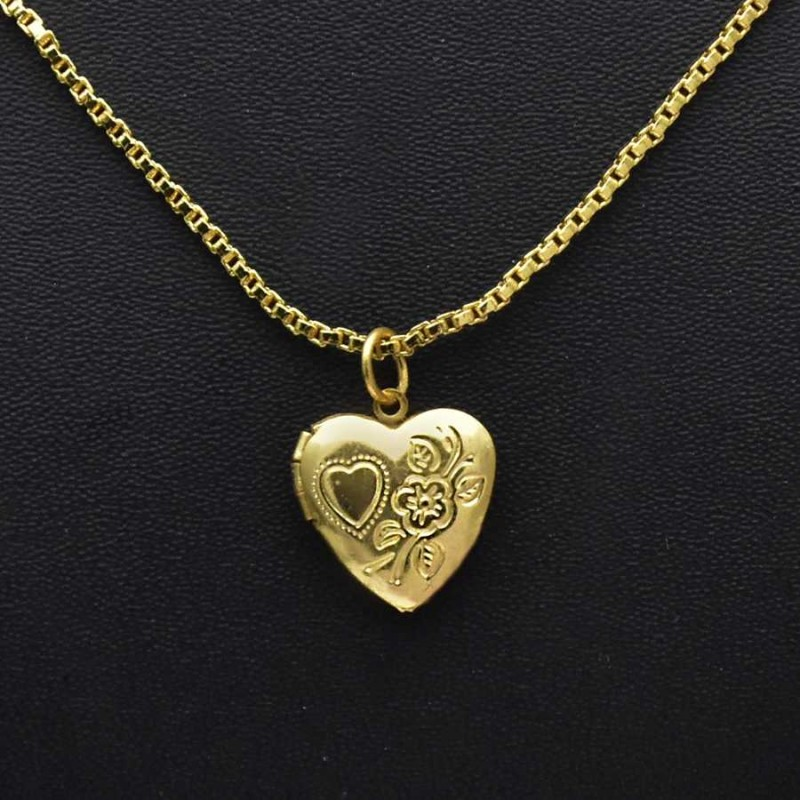 plated day online craftsvilla gold openable buy chain mother with s pendant locket yours free shape memoir shop heart gift cv forever