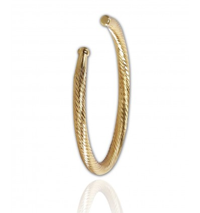 Gent's Gold plated Open wire Bangle/Kada