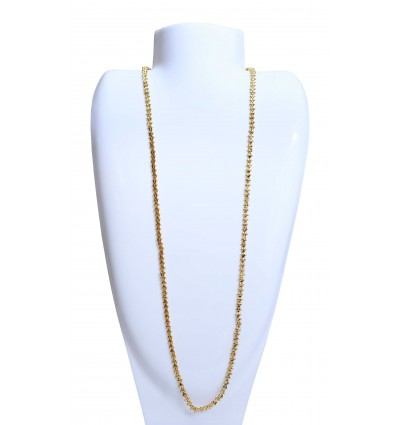 Gold plated designer X Chain