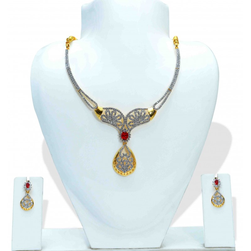 popular designer watch necklace indian trendy jewellery set designs ladies south wedding