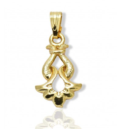 Gold Plated White stone Triangle Pendant