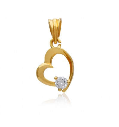 Gold Plated heart Designer Pendant