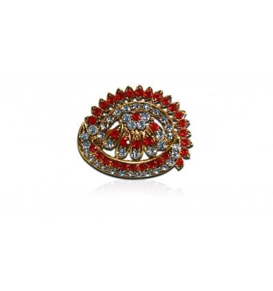 Red white Rhinestone Maftha Pin