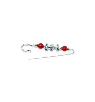 Red Bead Hijab Pin