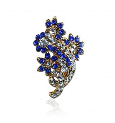 Blue Bouquet Hijab pin