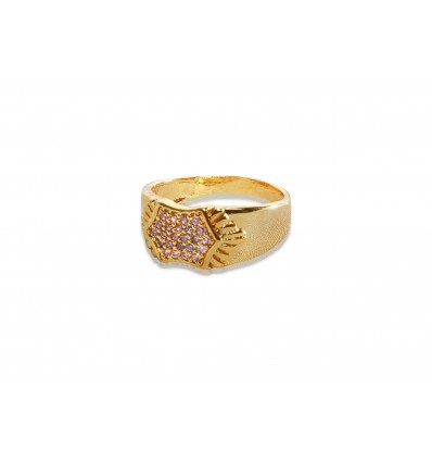 Gold plated Gent's CZ Stones Finger Ring