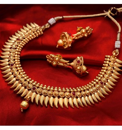 Traditional One Gram Gold Mango Necklace