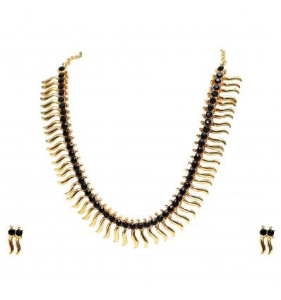 Centipede Violet Stone Necklace Set