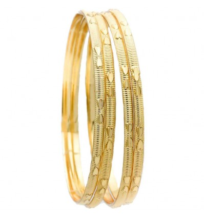 Micro Gold Designer Bangles