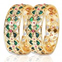 Traditional Broad Green Palakka Bangle