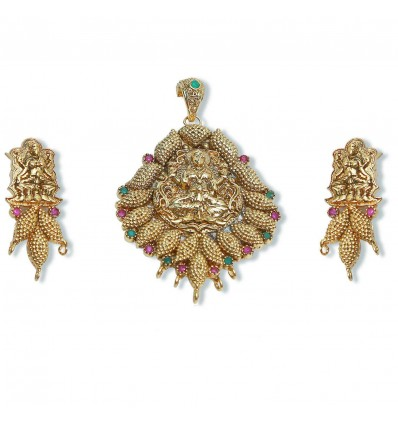 Antique Ruby Lakshmi Pendant Sets