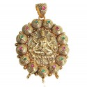 Gold Plated Gaja Lakshmi Pendant