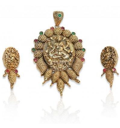 Antique God Lakshmi Devi Pendent Sets