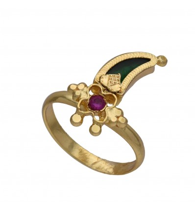 South Indian Traditional Pulinakham Finger Ring