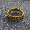 New Gold Plated Coir Knot designed Finger Ring