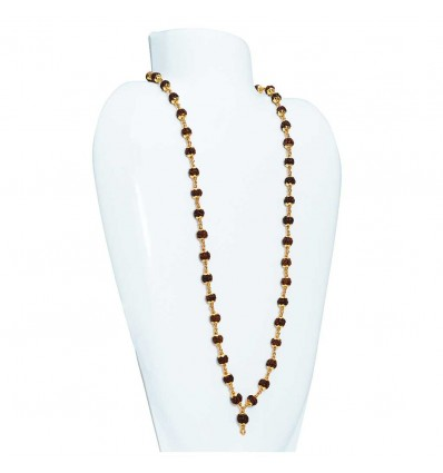 Gold plated Rudraksha Chain