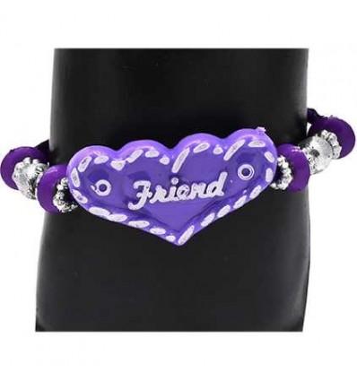 Violet Ribbon Friendship Band