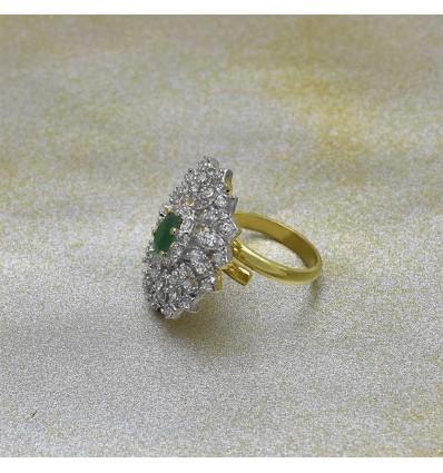 White Gold Ruby Finger Rings