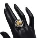 Stunning Twirl American Diamond Finger Ring