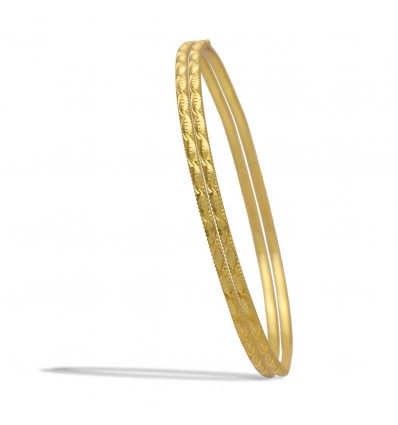 Stylish Gold Plated Designer Thin Bangles