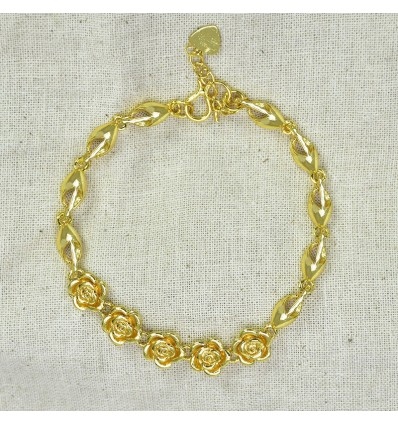 Gold Plated Floral ladies Bracelet