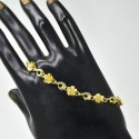 Gold Plated Floral ladies Bracelet