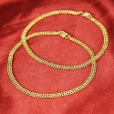 Classy Gold Plated Designer Lee Chain Anklets Payal