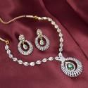 Marvelous Premium AD and Emerald Necklace Set