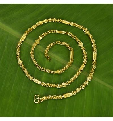 Micro Gold plated designer X Chain