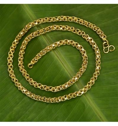 Designer Gold Plated Medium Zello Chain