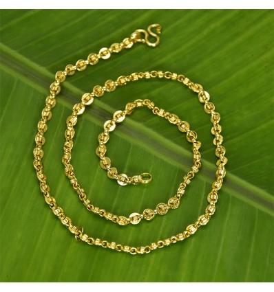 Gold plated designer Druvam Spring Chain