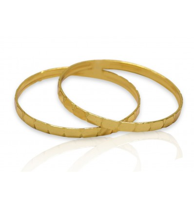 Cute Micro Gold Plated Baby Bangles
