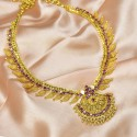 Magnificent Premium Gold Plated Ruby/AD Stone Net Necklace