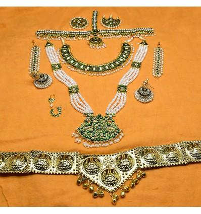 Imitation Green Classical Dance Jewelry Fullset