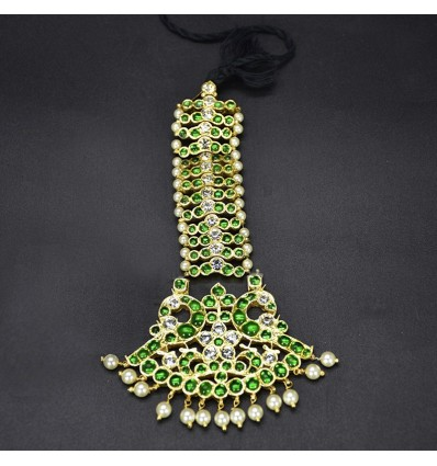 One Step Green Nettichutti/Mang Tikka Temple Jewellery