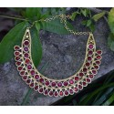 Keralal Traditional Red Nagapadam Chocker