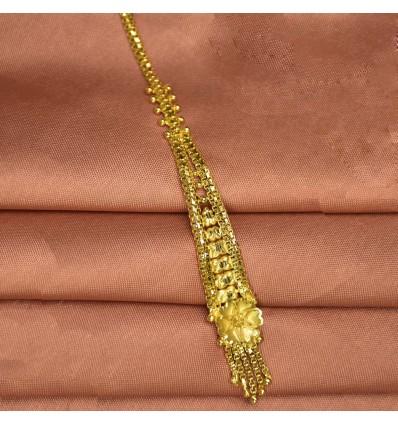 Gold Plated Floral Nethi Chutti/Netti chutti/Maang Tikka