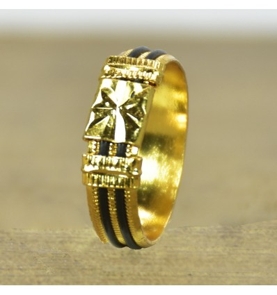Gold Plated Elephant Tail Model Fiber Ring