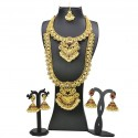 Antique Gold Plated Peacock Bridal|Wedding Jewellery Set