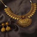 Astonishing Antique Gold Plated Peacock Bridal Necklace Set