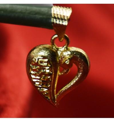 Cute Designer Gold Plated Heart Pendant