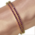 Stylish Premium Gold Semi Precious Stone Bangles