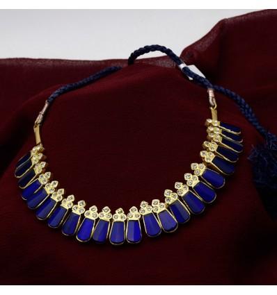 Original Temple Blue Nagapadam Necklace